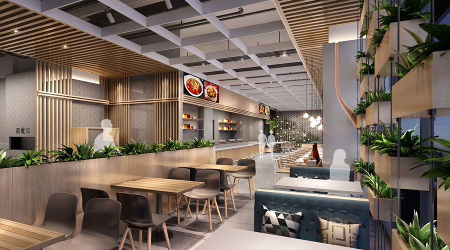 热带雨林美食广场火爆开业_餐饮装修设计,我们是专业的